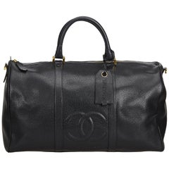 Chanel Black Caviar Duffel Bag