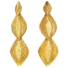 Giulia Barela 24 karat , gold plated bronze Parenthesys earrings