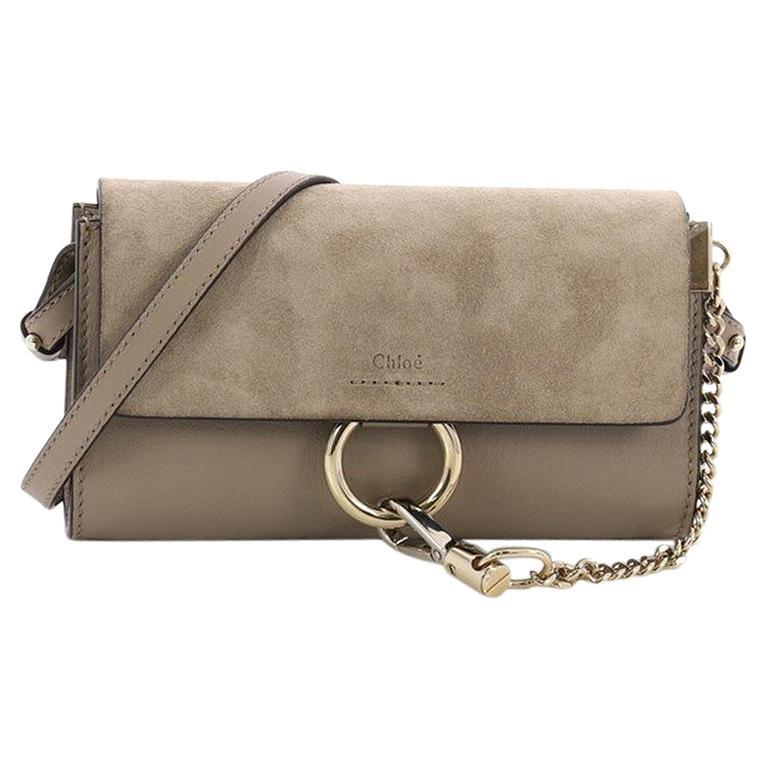Chloe Faye Shoulder Bag Leather and Suede Mini at 1stdibs b5b5e47dfb85