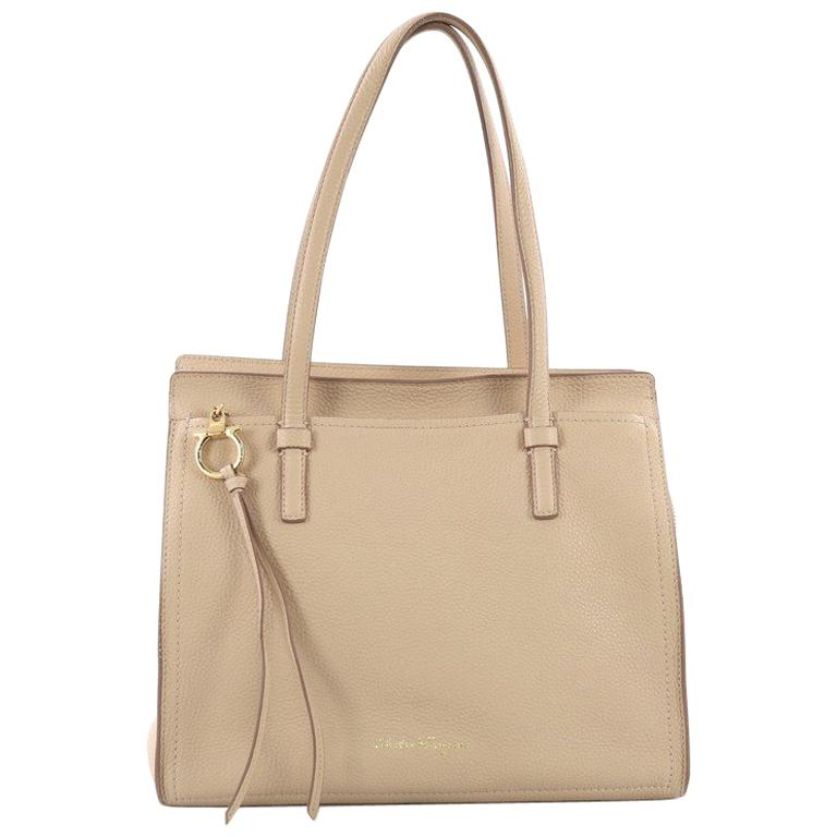 7a81a0476d Salvatore Ferragamo Amy Tote Pebbled Leather Medium For Sale at 1stdibs