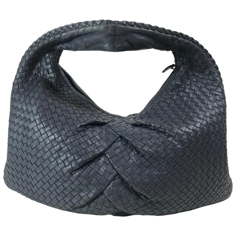 Bottega Veneta Intrecciato Leather Hobo For Sale