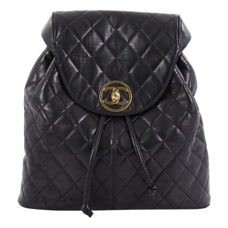 9771c3e3d95b Chanel Vintage Backpack Quilted Lambskin Large For Sale at 1stdibs