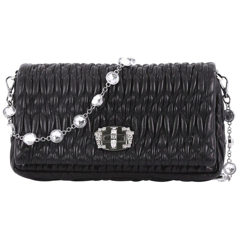 55d31a2c6b44 Miu Miu Crystal Clutch Matelasse Leather Small For Sale at 1stdibs