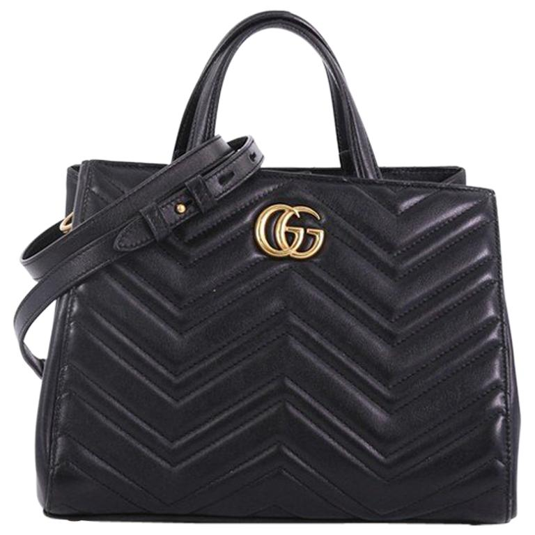 06a5e3af034aa4 Gucci GG Marmont Tote Matelasse Leather Small For Sale at 1stdibs