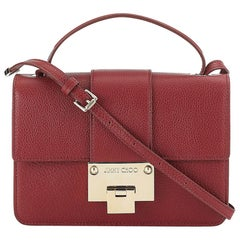New JIMMY CHOO *Rebel* Red Grainy Calf Leather Cross Body Bag