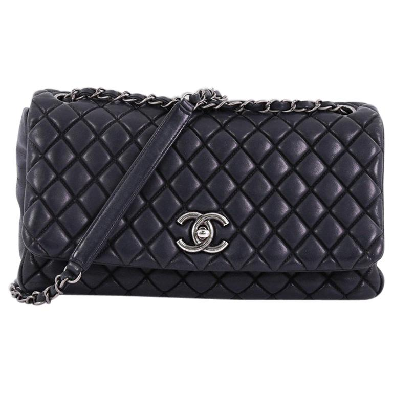 2a968fe548c Chanel New Bubble Flap Bag Quilted Iridescent Calfskin Large at 1stdibs