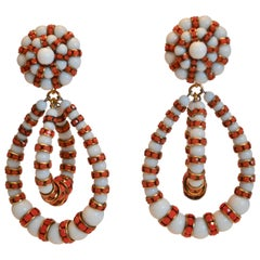 Francoise Montague Orange and Coral Medium Lolita Earrings