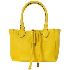 Michael Kors Yellow Leather Miranda Tote Bag