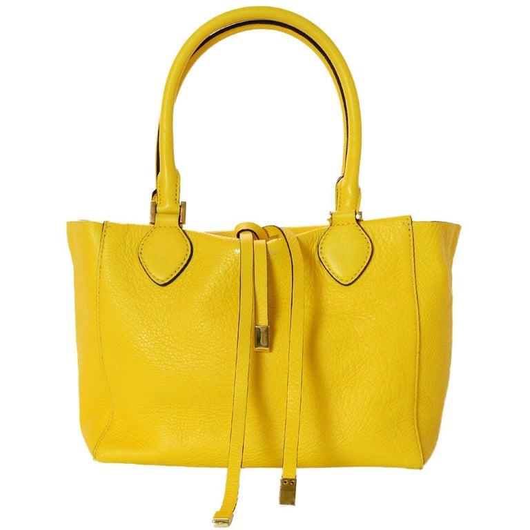 93ee33e9e734df Michael Kors Yellow Leather Miranda Tote Bag For Sale at 1stdibs