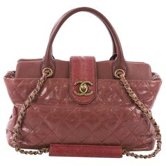 Chanel Bindi Tote Quilted Leather with Stingray Medium