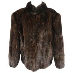 Vintage SAGA Size L Dark Brown Mink Fur Coat