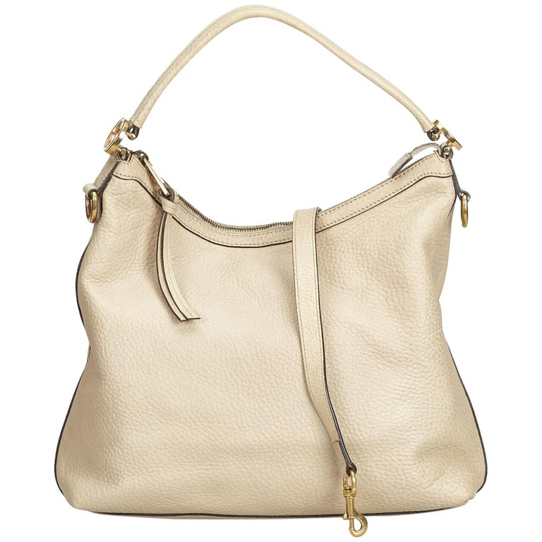 083ce991a2b486 ... PursesShoulder Bags. Gucci Brown Leather Miss GG Satchel For Sale