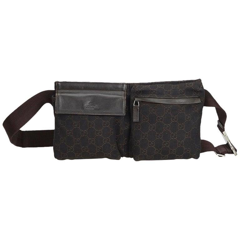 d0eaf6dbc7ce Gucci Black Guccissima Jacquard Belt Bag at 1stdibs