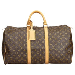 Louis Vuitton Brown Monogram Keepall 50