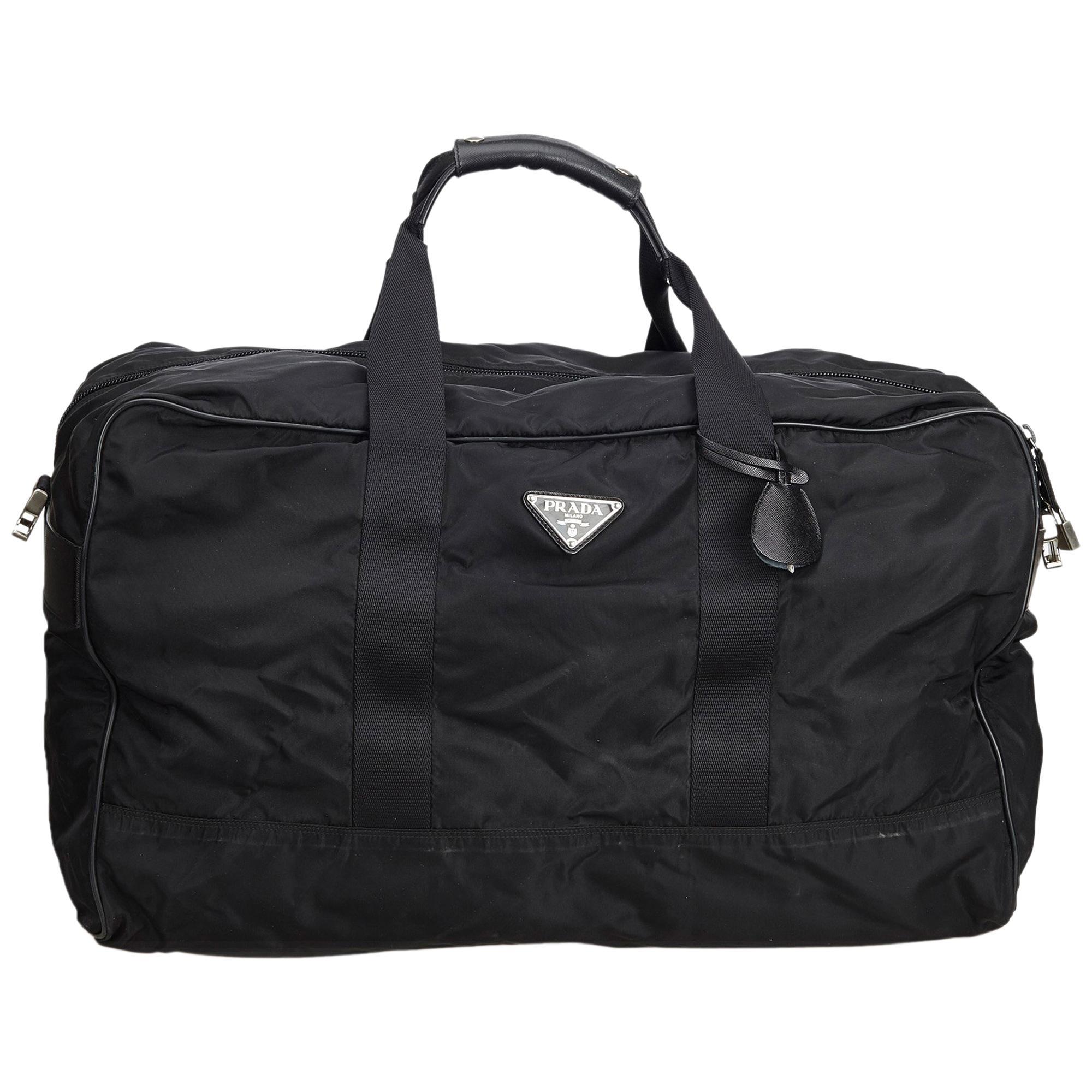 0e0928de75fe Prada Black Nylon Travel Bag at 1stdibs