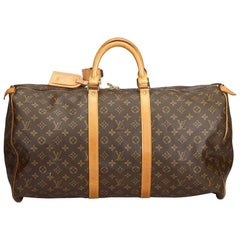 Louis Vuitton Brown Monogram Keepall 55