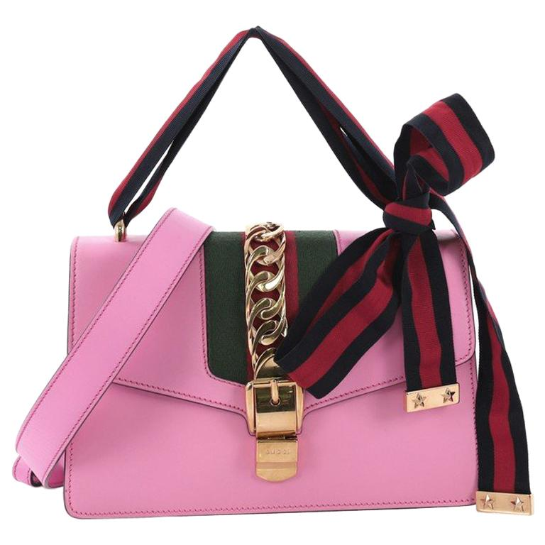 dde13f3f4 Gucci Sylvie Shoulder Bag Leather Small For Sale at 1stdibs