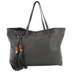 Gucci Bamboo Tassel Tote Leather Large