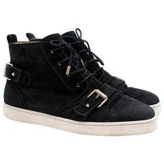 Christian Louboutin Nono Strap Veau Velours Sneakers SIZE UK 43 / US 9.5