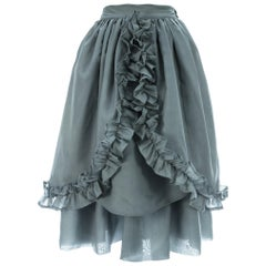 Dolce & Gabbana mint organza bustle skirt with ruffle trim, c. 1980s