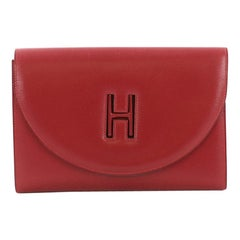 Hermes Vintage H Cut Out Clutch Leather