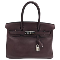 Hermes preloved Prune Birkin 30cm
