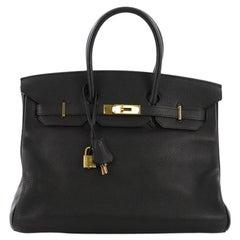 c02889094234 Hermes Birkin Handbag Noir Togo with Gold Hardware 35