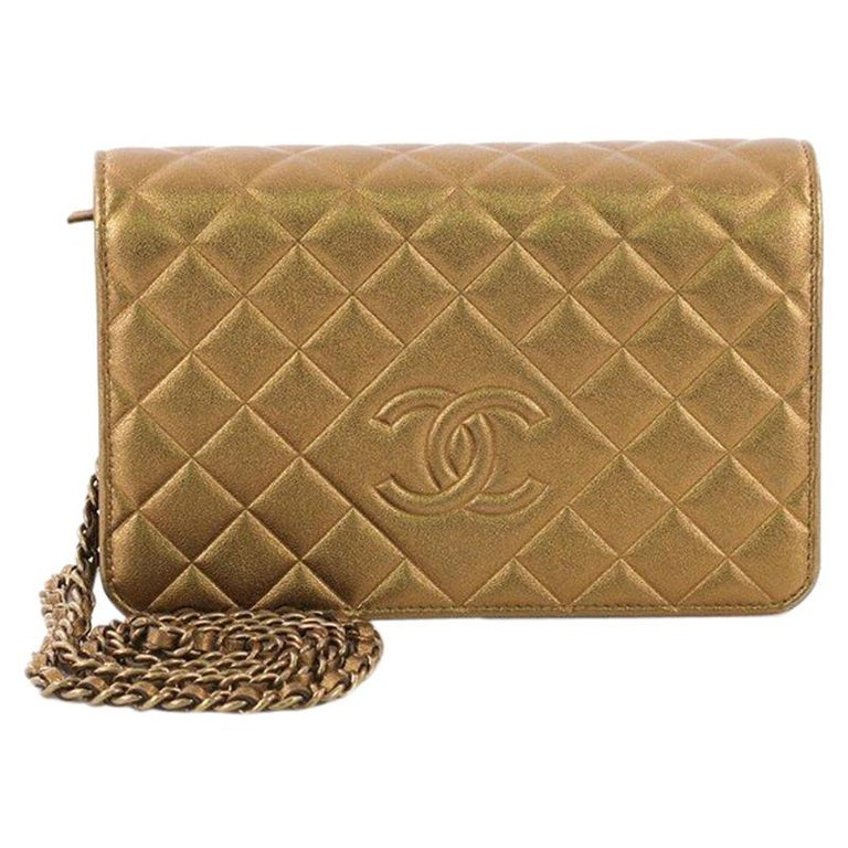 5519baf33605ff Chanel Diamond CC Wallet on Chain Quilted Lambskin For Sale at 1stdibs