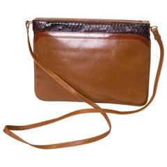 Vintage Ferragamo Leather and Snakeskin Bag