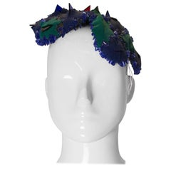 Vintage Green and Blue Headturning Hat