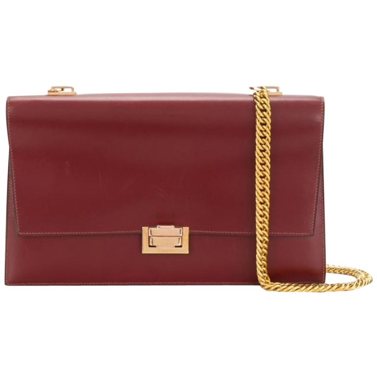 Hermes Bordeaux Shoulder Bag For Sale