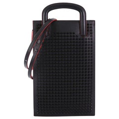 Christian Louboutin Trictrac Portfolio Bag Leather and Spiked Leather Small