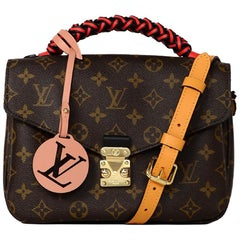Louis Vuitton NEW '18 LV Monogram Braided Pochette Metis Messenger/Crossbody Bag