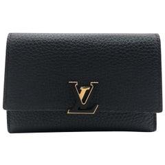 Louis Vuitton Capucines Black Taurillon Leather Wallet