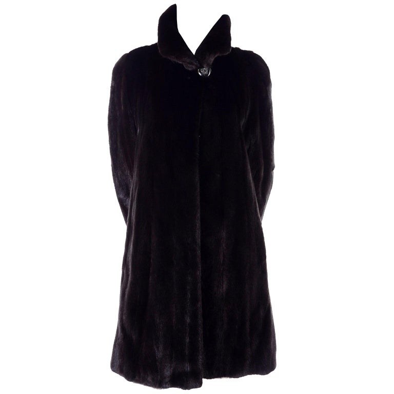 Blackglama Dark Ranch Mink Coat  For Sale