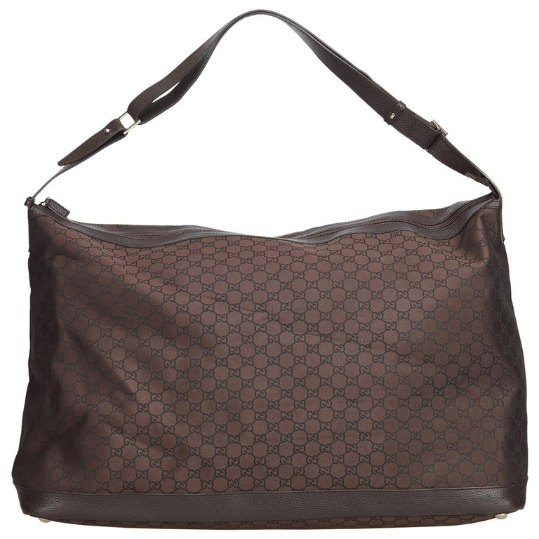 876652ee1edc Gucci Brown Guccissima Jacquard Travel Bag at 1stdibs
