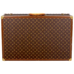 Louis Vuitton Monogram Trunk Suitcase 75 - brown
