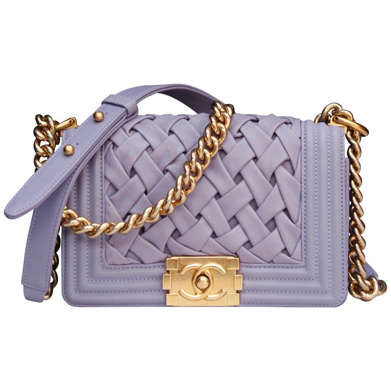 Chanel fabulous mauve leather bag, model Boy