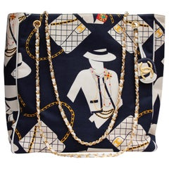 "Chanel ""Coco Silhouette""s collector shopping bag in navy blue canvas"