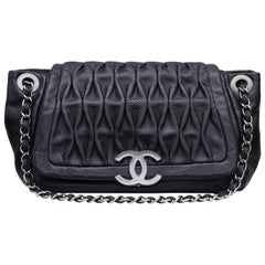 9db31529100090 Chanel superb black leather bag, 2008/2009 Fall/Winter Collection