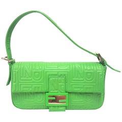 Fendi Green Baguette Bag