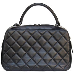 0ddbd1147bdea1 Chanel lovely black quilted bowling bag, 2010s