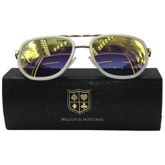 Walton & Mortimer Sunglasses NUMBER ONE White Limited Edition