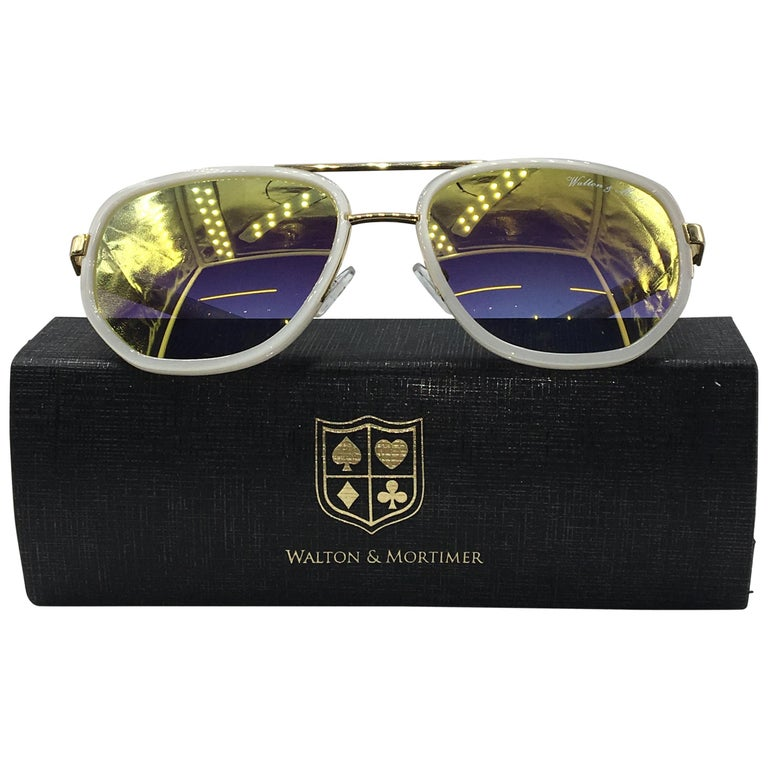 ffbb73d9032 Walton and Mortimer Sunglasses NUMBER ONE White Limited Edition For ...