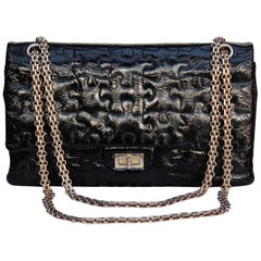 f1955c3dec98a3 Chanel Heart Shape Bag Patent Leather Terry Cloth 2009 - black and ...