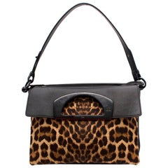 Christian Louboutin Leopard Print top Handle Shoulder Bag