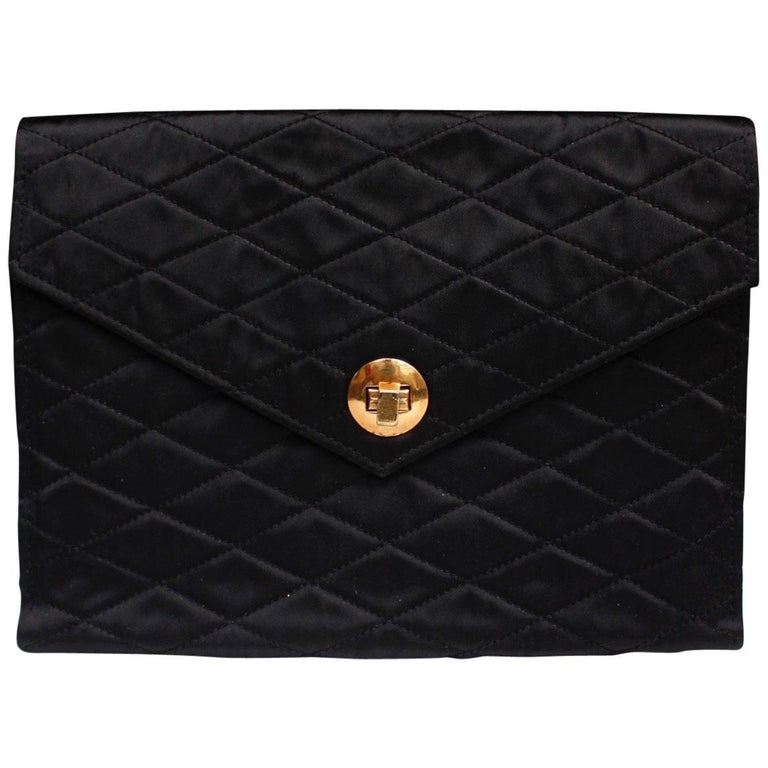 d20420a5f314 Chanel nice satin evening clutch For Sale at 1stdibs