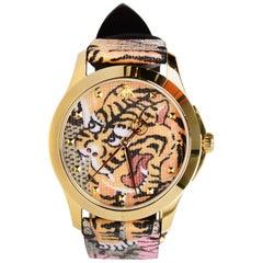 Gucci 38m Unisex Le Marche Des Merveilles Bengal Tiger Quartz Watch w. Box