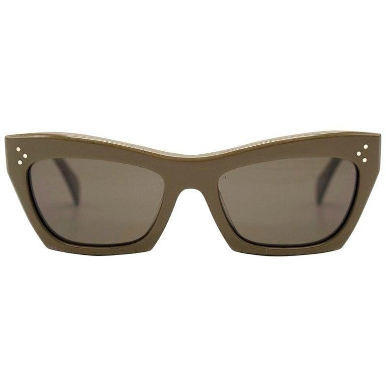 0b7468e4c3 Celine Khaki Retro 50 s Sunglasses For Sale at 1stdibs