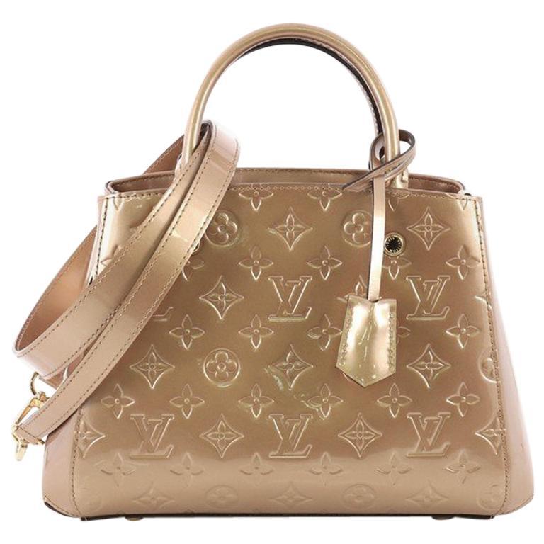 534237ebc3d1 Louis Vuitton Montaigne Handbag Monogram Vernis BB For Sale at 1stdibs